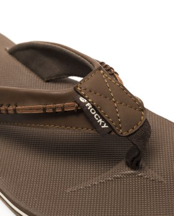 Rocky Quinn Water Friendly Thong Style Sandal in Brown detail image