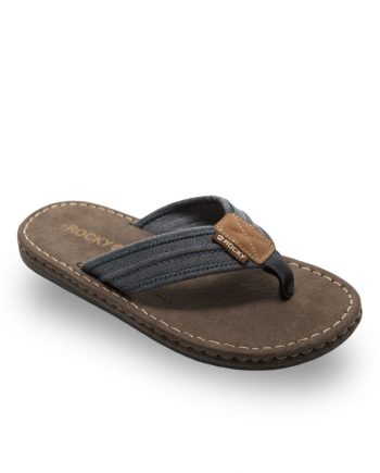 Ash Toe Post Sandal - Blue & Charcoal
