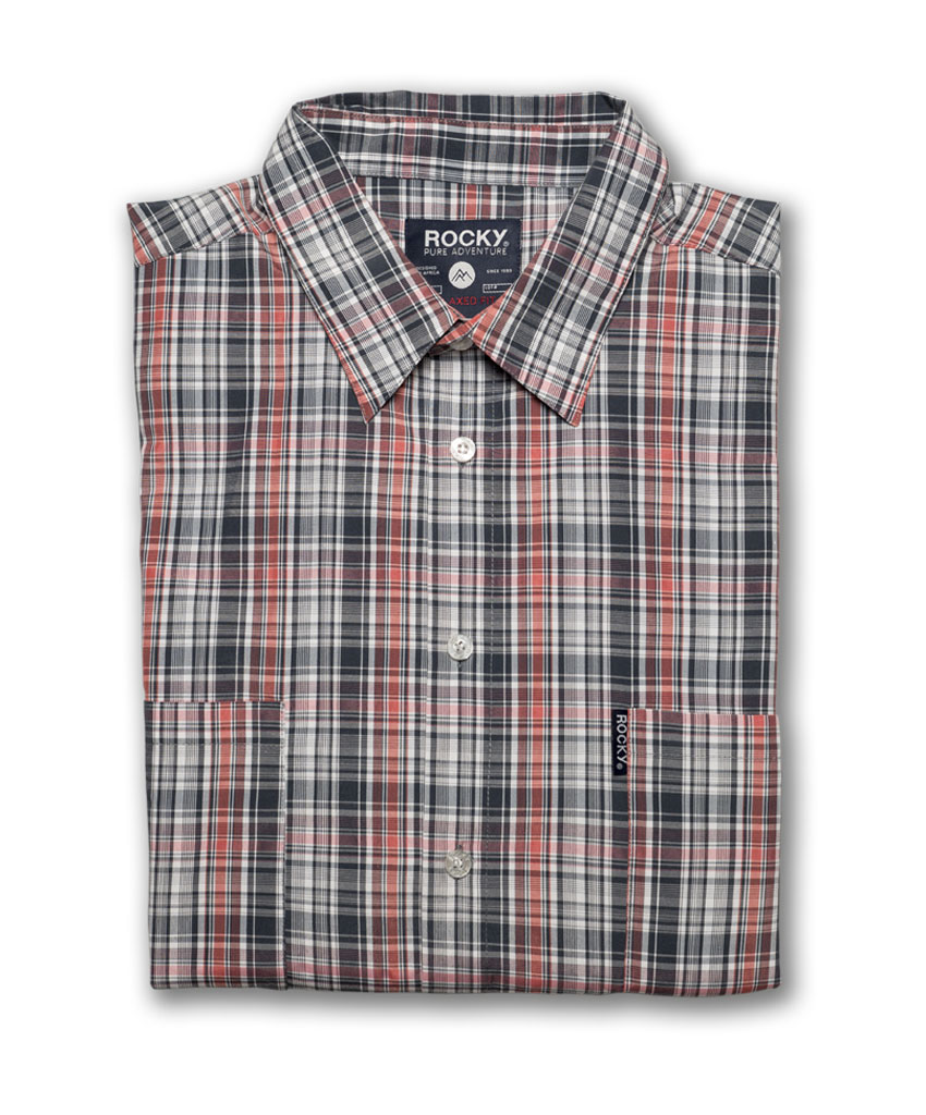 f93a3704258 Home   Mens Clothing   Short Sleeve Check Shirt – Charcoal Red White