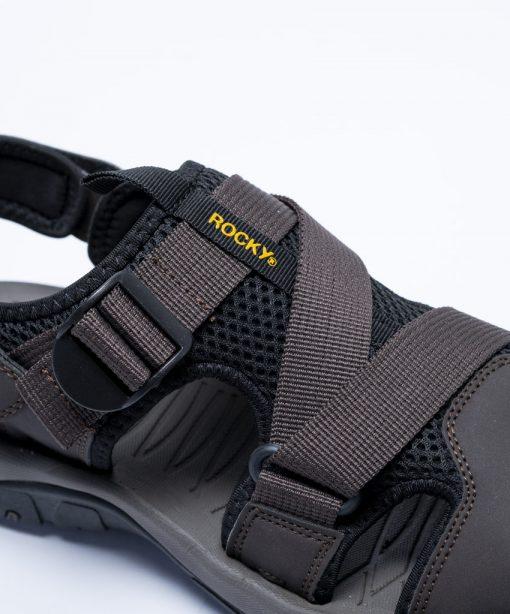 detail shot of Colton brown sandal